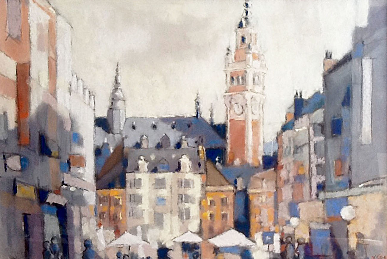AAR © Yves GOUT Lille rue nationale (pastel) 60x80
