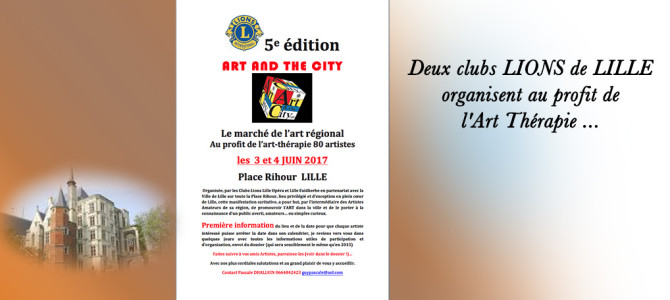 🔷 Les 03 & 04/06/2017 Art and the City place Rihour