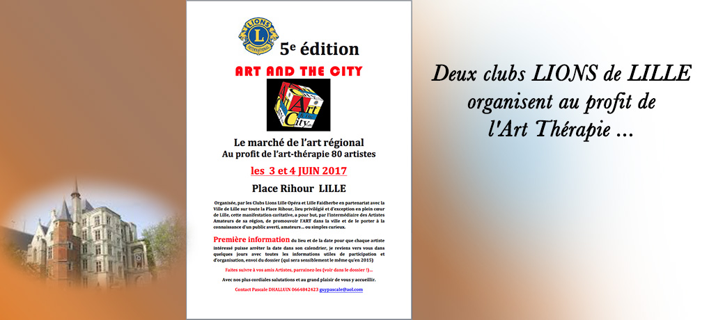 🔶 Les 03 & 04/06/2017 Art and the City place Rihour