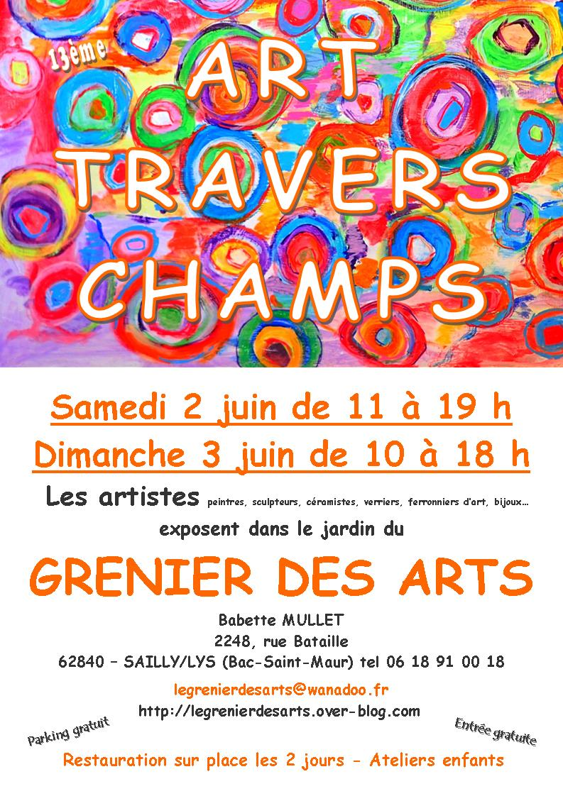 2018-06-02&03 ARTS TRAVERS CHAMPS SAILLY LYS Affiche mini