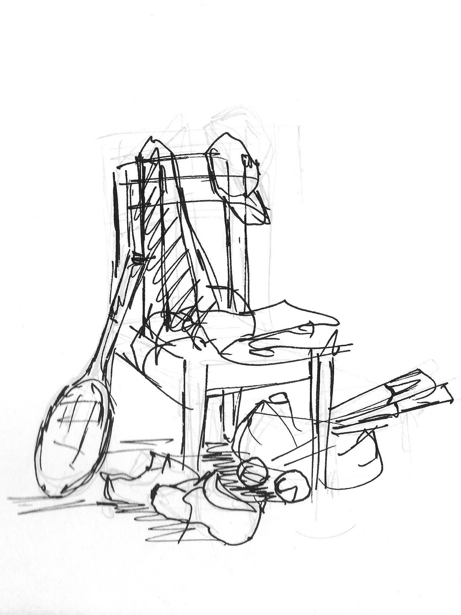Chaise composition - croquis_2