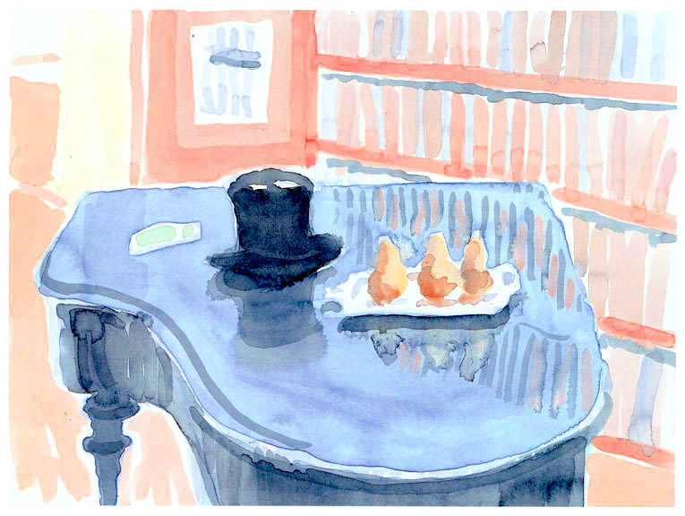 •• Top Hat & Pears on a Piano, David HOCKNEY 1_3 sur le WEB PScourbes